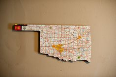 Oklahoma Vintage Map Wall Art by Junklahoma on Etsy, $35.00