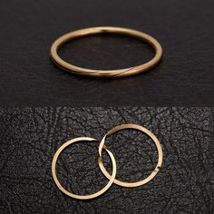 This Georgian interlocking wedding band is fashioned in 18k rose gold. The seamlessly joining hoops are meant to symbolize the union of two lives into one (awww). If you wish, we can engrave the interior surfaces with teeny-tiny script. c. 1820 and a very wearable (but un-re-sizable) size 6. Try it on at our Brooklyn shop.