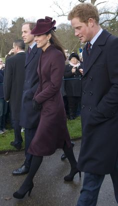 Will, Kate & Harry - Dec 25, 2011