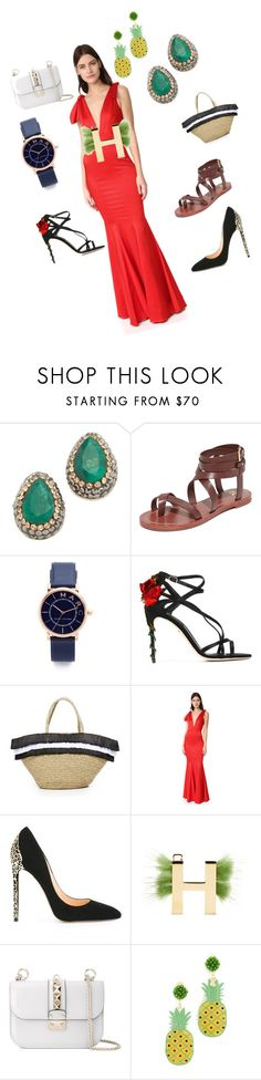 """Fabulous set"" by emmamegan-5678 ❤ liked on Polyvore featuring Native Gem, Tory Burch, Marc Jacobs, Dolce&Gabbana, Mystique, Zac Posen, Cerasella Milano, Fendi, Valentino and Mercedes Salazar"