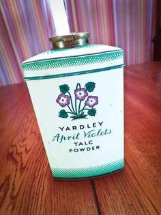 Vintage Yardley April Violets Talc Powder TIN London | eBay