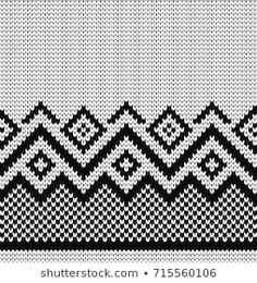 Find Knitted Geometric Seamless Border stock images in HD and millions of other royalty-free stock photos, illustrations and vectors in the Shutterstock collection. Baby Knitting Patterns, Tapestry Crochet Patterns, Knitting Charts, Weaving Patterns, Knitting Stitches, Embroidery Patterns, Cross Stitch Designs, Cross Stitch Patterns, Punto Fair Isle