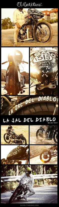 La Sal del Diablo (The Salt Devil) Triumph T120R by El Solitario MC ~ Return of the Cafe Racers