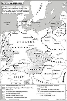 """your-instructions-from-moscow: """" Map """"Germany, Martin Gilbert, ed. The Routledge Atlas of the Second World War, edition """" European History, World History, Moscow Map, Alternate History, Old Maps, Historical Maps, Vintage Maps, Cartography, World War Two"""