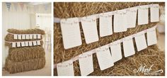 #St mary's newchurch pendle_ #edding hay bales #wedding seating plan