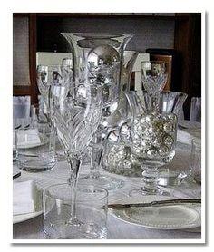 Black, white, silver table setting | Pinterest | Silver table, Table ...
