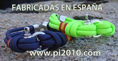 Pulseras estilo náutico, con bandera de España, fabricadas con cordón de paracaídas, cierre metálico y grillete. Fabricadas en España. http://www.pi2010.com/index.php?route=product/category&path=66_69