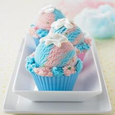 ice cream cotton candy cupcakes
