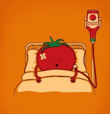 Blood Transfusion for an injured tomato. Smile and have a great day at work! :) kjm