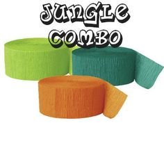 Jungle theme Party // Kids party ideas // Crepe Paper Color Combo // Party Combo // Paper Streamers