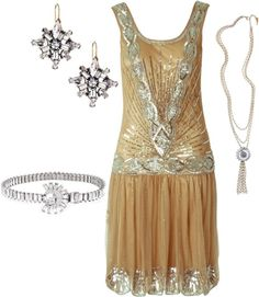 Roaring 20's inspired outfit-reminds me of the great gatsby :)