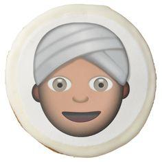 Man With Turban Emoji Sugar Cookie