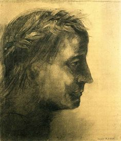 The laureate head by Odilon Redon #symbolism