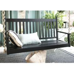 Tip for porch swing chain: Try wrapping the provided chain with natural fiber rope for an unexpected look.