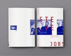 Magazin (Ausgabe) - Steve Jobs on Behance - # Editorial Design Magazine, Magazine Design Inspiration, Editorial Layout, Graphic Design Inspiration, Graphic Design Layouts, Graphic Design Print, Brochure Design, Layout Design, Steve Jobs