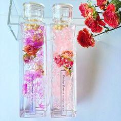 2本セット Elegant Rose ピンク&カシスフラワーリウム