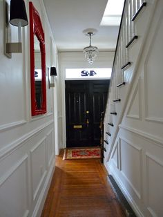 *Wainscoting on stair wall in the living room