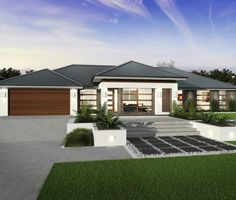 Dreams of Balinese Style House Plans Family House Plans, Best House Plans, Modern House Plans, Modern House Design, Style At Home, Modern Exterior, Exterior Design, Mcdonald Jones Homes, Front House Landscaping