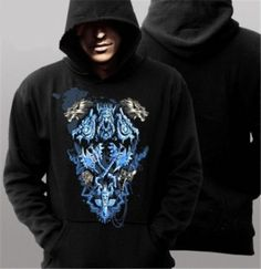 Plus size hoodie from World of Warcraft Shaman pattern for men