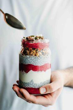 Chia and Rhubarb Breakfast Jar