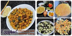 Eggplant Chickpea and Tomato Curry Tomato Curry, Chana Masala, Eggplant, Ethnic Recipes, Food, Eggplants, Meals