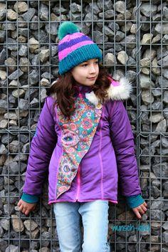 wunsch-kind: Carlita von Bienvenido Colorido Make Your Own Clothes, Mantel, Winter Hats, Jackets, Fashion, Poplin, Light Jacket, Mandarin Collar, Cowl