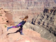 She's fairly sure of her balancing skills. Would you try this at the rims edge in the Grand Canyon? Grand Canyon Helicopter, Helicopter Tour, Tours, Sky, Travel, Heaven, Viajes, Destinations, Traveling