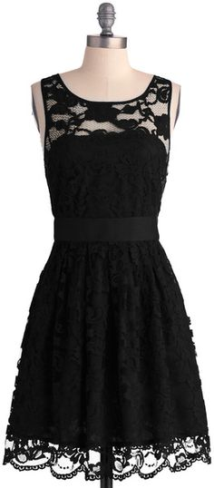 The LBD that ladies need in times of spur-of-the-moment dates. :)