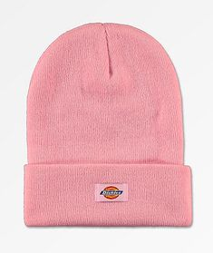 0a04609c30e Dickies Pink Fold Beanie Pink Beanies