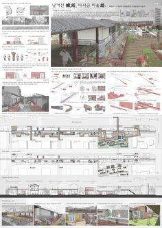 이미지를 클릭하면 창이 닫힙니다. Architecture Panel, Architecture Design, Axonometric Drawing, Urban Design Plan, Project Presentation, Collage Illustration, Design Projects, Environment, Floor Plans
