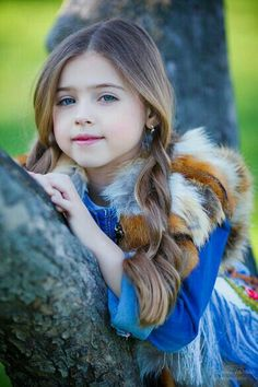 Beautiful Brunette child girl