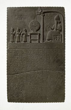 The Sun God Tablet Limestone Found Sippar, Iraq c. 860-850 BC Babylonian