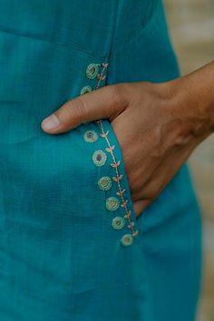 #indianwomenswear #womenempowerment #indianwear #affordablekurtas  #ethnicfashion #okhai  #handcraftedinindia #handmadekurta #embroiderydress #mirrorwork #artisanmade #handmadeinindia  #blockprinteddress #handmadecottondress #everydaydress  #mirrorworkkurta #mirrorembroidery #neckembroidery #sustainablefashion #sustainablefashionindia #madeinindia #indiandesign #fairtradeindia #ethicalfashionindia #indiankurtis  #modernindianfashion #modernindia #embroiderydress #handembroidery… Embroidery On Kurtis, Hand Embroidery Dress, Embroidery Neck Designs, Hand Embroidery Videos, Embroidery Fashion, Neckline Designs, Fancy Blouse Designs, Designs For Dresses, Kurta Designs Women
