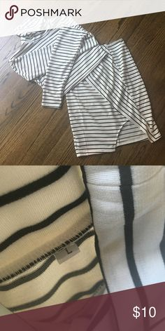 Dress - skirt/top combo Black and white stripe skirt and long sleeve turtle neck crop top combo. Very cute, trendy and stylish for fall 2016! Dresses