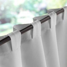 Linen curtains with hidden tab. Linen curtains with hidden tab. No Sew Curtains, Home Curtains, Rod Pocket Curtains, Linen Curtains, Curtains With Blinds, Kitchen Curtains, Custom Curtains, Valances, Window Panels