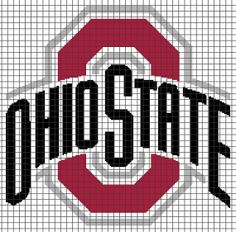 Ohio State Buckeyes Crochet Graphghan Pattern (Chart/Graph AND Row-by-Row Written Instructions) - 01