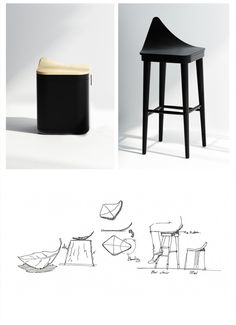 Material : Wood, Stainless, Fabric / Stool : 443 X 426 X 471 (mm) / Bar chair : 635 X 540 X 790 (mm) -