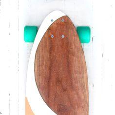 Handcrafted Longboard cereza  'ALOHA' por PNWmaker en Etsy