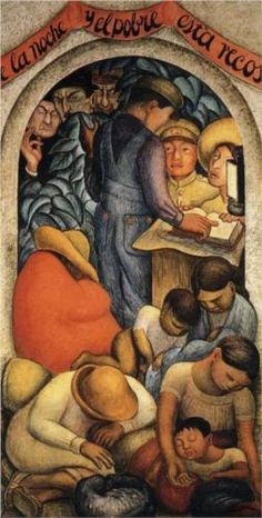 Diego Rivera (Dec 1886 – Nov Prominent Mexican painter & husband of Frida Kahlo. His large wall works in fresco helped establish the Mexican Mural Movement in Mexican art. ~Via Sally Atwell Williams Art Gallery, Mural Painting, Fine Art, Drawings, Painting, Muralist, Art, Diego Rivera, Art History