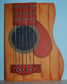 hand-made guitar card by Diane Callahan-Caro from lakesidestamper.com