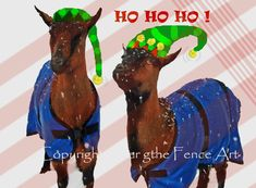 Hand Crafted Christmas Greeting Card Pet by overthefenceart, $5.00