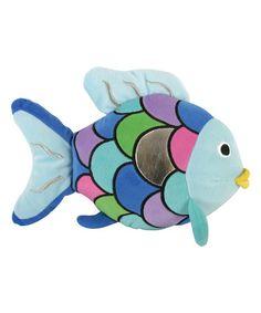 Another great find on #zulily! Blue Rainbow Fish Plush Toy #zulilyfinds