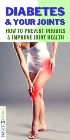 Diabetes and joint health - You need properly functioning joints to be able to bend, flex, or move your body. That's why taking care of your joints and preventing injury is important. Learn how to improve your joint health as diabetics here. #jointhealth #diabetes #diabetestips #managingdiabetes #healthtips #diabetesstrong