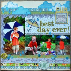"""Layout: """"Best Day Ever"""" wk 37/52"""