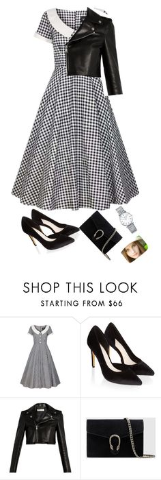 """.."" by eba-nur ❤ liked on Polyvore featuring Collectif, Monsoon, Yves Saint Laurent, Gucci and Longines"
