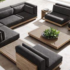 Pool Furniture, Modern Outdoor Furniture, Luxury Furniture, Furniture Design, Restoration Hardware Outdoor Furniture, Furniture Ideas, Living Room Sofa Design, Garden Sofa, Terrace Design