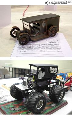 Monster Car, Monster Trucks, Model Cars Building, Custom Hot Wheels, Woodworking Workshop, Diecast Models, Wood Toys, Plastic Models, Scale Models