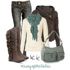 Cute outfit, but I'm loving those boots! If I'm not going to have a heel, that's what they need to look like.