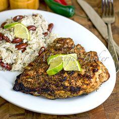 Jamaican Jerk Chicken & Coconut Rice