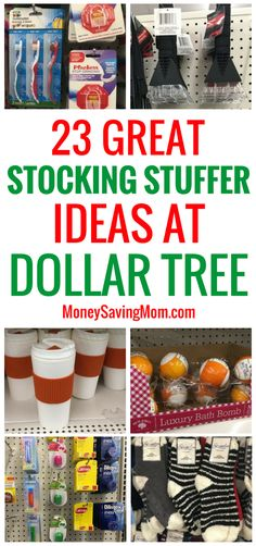 Check out these great stocking stuffer ideas on a budget! All of these are $1 or less at Dollar Tree!